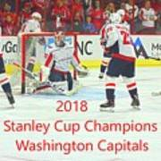 2018 Stanley Cup Champions Washington Capitals Poster