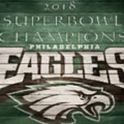 2018 Superbowl Eagles Barn Wall Poster