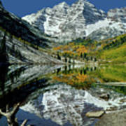 210426 Maroon Bells Reflect  Poster