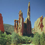 210806-h Spires In Garden Of The Gods Poster