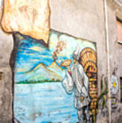 Mural Painting In Saludecio Poster