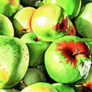 #227 Green Apples Poster