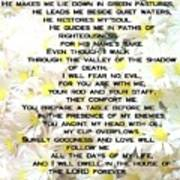 23 Rd Psalm Poster