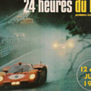 24 Hours Of Le Mans - 1971 Poster