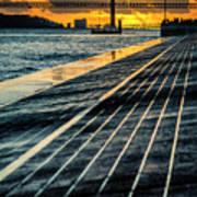 25 De Abril Bridge In Lisbon. Poster