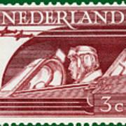 Old Dutch Postage Stamp Poster