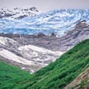 Glacier And Mountains Landscapes In Wild And Beautiful Alaska Poster