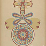 "Santa Barbara Mission Doorway Design From The Portfolio ""decorative Art Of Spanish California"" Poster"