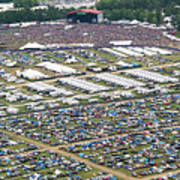 Bonnaroo Music Festival Aerial Photography Poster