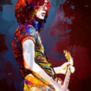 Jimmy Page. Led Zeppelin. Poster
