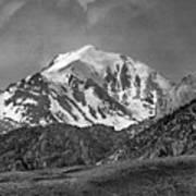 2d07508-bw High Peak In Lost River Range Poster