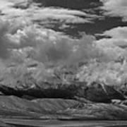 2d07517-bw Storm Over Lost River Range Poster