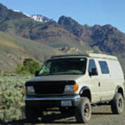 2da5944-dc Our Sportsmobile At Steens Mountain Poster