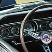 1966 Ford Mustang Cobra Steering Wheel Poster