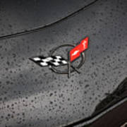 2002 Corvette Ls1 Painted Bw Poster