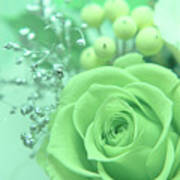 A Gift Of Preservrd Flower And Clay Flower Arrangement, White An Poster