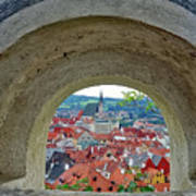 A View Of Cesky Krumlov In The Czech Republic Poster