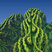 Abstract Fractal Landscape Poster