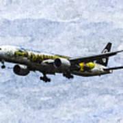 Air New Zealand Hobbit Boeing 777 Art Poster
