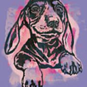 Animal Pop Art Etching Poster - Dog  5  Poster