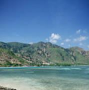 Areia Branca Tropical Beach View Near Dili In East Timor Poster