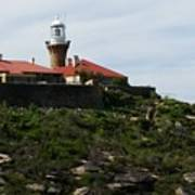 Australia - Barrenjoey Lighthouse On Solid Rock Poster
