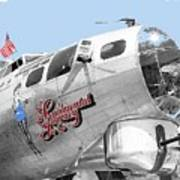 B-17g Flying Fortress Sentimental Journey 2 Avra Valley Arizona 1991 Color Added 2008 Poster