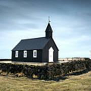 Black Church Of Budir, Iceland Poster