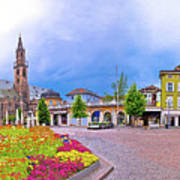 Bolzano Main Square Waltherplatz Panoramic View Poster