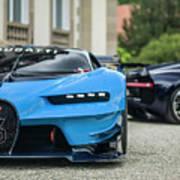 Bugatti Chiron And Vision Gt Poster