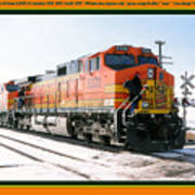 Burlington Northern Santa Fe Bnsf - Railimages@aol.com Poster