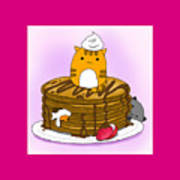 Cat In Food Poster