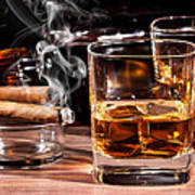 Cigar And Alcohol Collection Poster