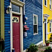 Colorful Houses In St. John's Poster