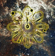 Conceptual Illustration Of Atomic Clock Poster
