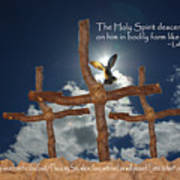 3 Crosses Descent Of Holy Spirit Poster by Robyn Stacey