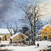Currier & Ives Winter Scene Poster