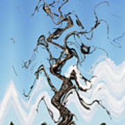 Dead Pine Tree Abstract Poster