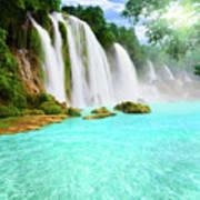 Detian Waterfall Poster
