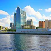 Downtown Tampa Fl, Usa Poster