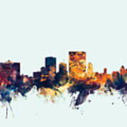 El Paso Texas Skyline Poster