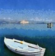 Fishing Boats In Nafplio Town Poster