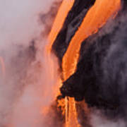 Flowing Pahoehoe Lava Poster