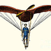 Goupils Flying Machine, 1883 Poster
