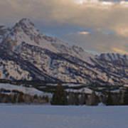 Grand Teton Winter Dawn Poster