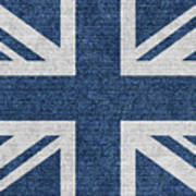 Great Britain Denim Flag Poster