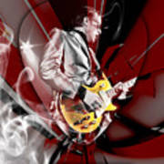 Joe Bonamassa Blue Guitarist Art Poster