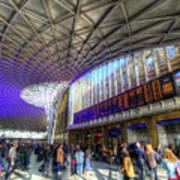 Kings Cross Rail Station London Poster