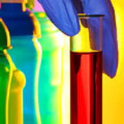 Laboratory Test Tube In Science Research Lab Poster