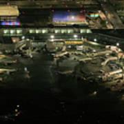 Laguardia Airport Aerial View Poster